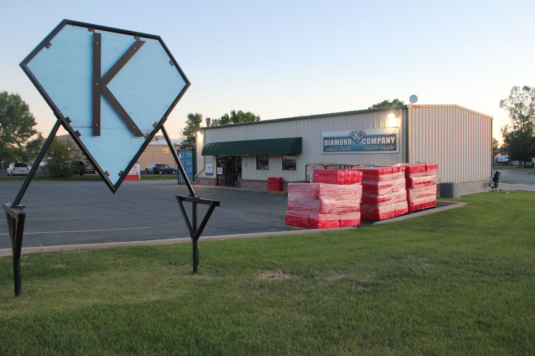 View of Diamond K Company Storefront and Sign in Odgen, UT
